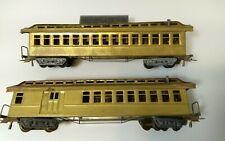 2 Mantua Brass Old Time Passenger cars