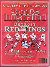 NICKLAS LIDSTROM & CHRIS OSGOOD SIGNED 2008 DETROIT RED WINGS SPORTS ILLUSTRATED