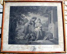 ANCIENNE GRAVURE « HYMEN ET BONHEUR » de Villerey (Antoine-Claude-François) Dime