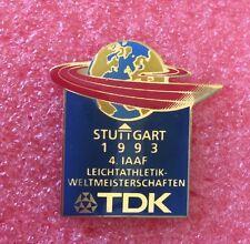 Pins CHAMPIONNAT DU MONDE D'ATHLÉTISME STUTTGART 1993 TDK Leichtathletik