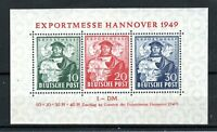 Germany - Allied Occ British and American Zones 1949 Hanover Trade Fair MS MNH
