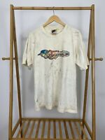 VTG JNCO Wizard Flame Spectrum Short Sleeve Thrashed T-Shirt Size L USA
