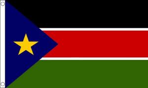 SOUTH SUDAN FLAG 5ft X 3ft