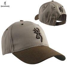 Browning Northfork Twill 2 Two Tone Khaki / Brown Hunting Shooting Hat Cap NEW!