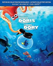 Finding Dory, Trouver Doris (Blu-Ray+BR 3+DVD) BRAND NEW, Musica Monette, Canada
