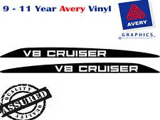 V8 CRUISER Decal Sticker Suit Toyota Landcruiser 76 70 78 79 Series Bonnet scoop
