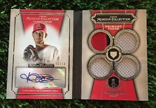 2013 TOPPS MUSEUM COLLECTION JERED WEAVER PRIMARY PIECES AUTO PATCH JERSEY #d/10