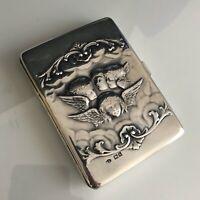 William Comyns Sterling Silver Aide de Memoire card case Sampson Mordan Pencil