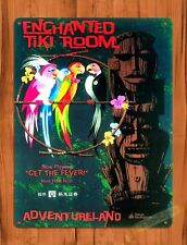 Tin Sign  Disney Enchanted Tiki Room Tokyo Attraction Ride  Movie Poster Art