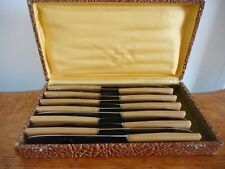 Vintage Boxed French Set 12 Butter Cutlery
