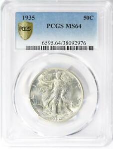 1935 Walking Liberty Half Dollar - PCGS MS-64 - Mint State 64