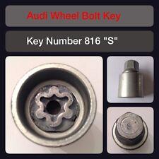 11-18 C7 Black Locking Wheel Bolts 14x1.5 Nuts Radius 28mm For Audi A6