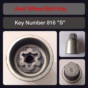 "Genuine Audi Locking Wheel Bolt / Nut Key 816 ""S"" 17 Hex"