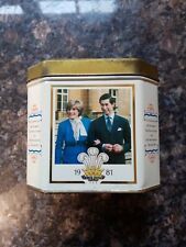 Commemorative Tin The Marriage Charles The Prince Of Wales To Lady Diana 1981