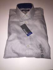 NEW Kenneth Cole Reaction Dress Shirt Slim Medium M NWT No Iron 15 15.5 32 33
