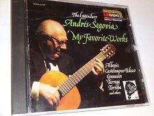CD Andres Segovia: The Legendary: My Favorite Works (1990 MCA Classics)
