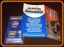2013 MIAMI FLORIDA MARLINS  BASEBALL POCKET SCHEDULE DONOVAN SOLANO ON COVER