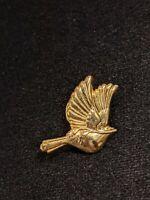 Vintage Gold Tone Dove Olive Leaf Pin Brooch 14286