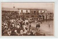 Crowd Of People Sun Bathing At Southport Sea Bathing Lake 1928 Real Photograph