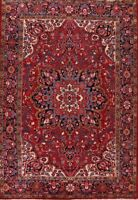 8x12 Vintage Heriz Traditional Area Rug Hand-Made Classic Oriental Wool Carpet