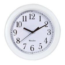 Westclox Wall Clock Simplicity Analog Round Home Office Clock 46994 New, White