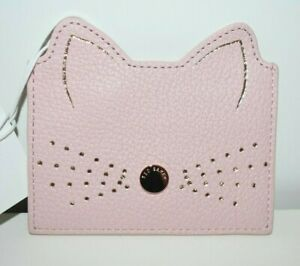 NWT Ted Baker London Pink Anatoni Cat Whiskers Credit Card Holder Light Pink