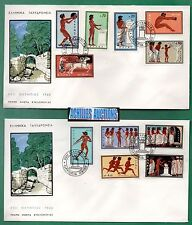 Greece. Olympic Games Rome 1960, Sprinters Long Jump Olympic Flame Armistice FDC