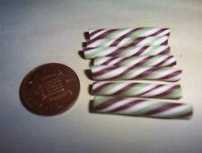 X4 Miniature Menta Chocolate Candy Canes Dulces Candy Muñeca alimentos 6TH Escala