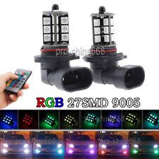 RGB Wireless 9005 HB3 9011 27-SMD LED Decoration Bulbs 3K 8K 10K For Fog Lights