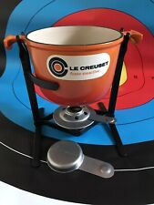 LE CREUSET Cast Iron Volcanic Orange Fondue Set
