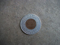 1946 Seaside Service oil gas station Stockton CA Good Luck Penny encased cent