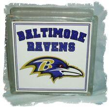 Baltimore Ravens  Glass Block Light