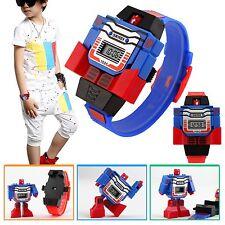 Children Watches Transformer Robot Cartoon Digital Watch Gift For Kids Boys Girl