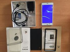 Sony Xperia Z3 Dual D6633 - 16GB - White (Unlocked) Smartphone With Accessories