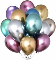"10pcs 12"" Confetti Balloon Metallic Latex Balloons Helium Birthday Party Wedding"
