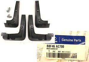New OEM Genuine Hyundai Santa Fe 4 piece Mud Flaps Splash Guards 2013-2018 Sport