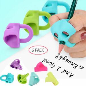 6pcs/Set Children Pencil Holder Pen Writing Aid Grip Posture Correction Tools US