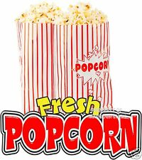 "Fresh Popcorn 24"" Decal Concession Food Truck Cart Trailer Vinyl Sticker Sign"