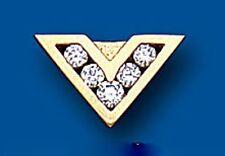 Uomo orecchino zircone cubico oro bottone 9 carati giallo