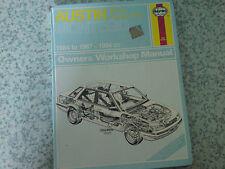 AUSTIN MONTEGO MG & VDP 1984-87' Haynes Workshop Manual