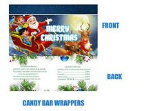 Christmas Candy Bar Wrappers, Christmas, Holiday Favors, Holiday