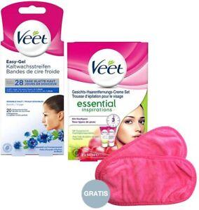Veet Haarentfernungs-Set für ein gepflegtes Gesicht mit 2 Artikeln & Gratis Pads