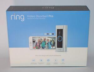 Neuf Bague Vidéo Sonnette Pro Hardwired HD Caméra de Sécurité Wifi Mouvement