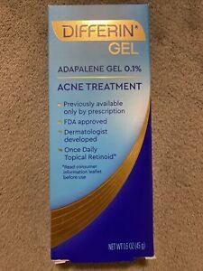 Differin Adapalene Gel 0.1% Acne Treatment 1.6 oz EXP: 2024+ Fast Free Shipping