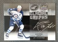 2015-16 UD ICE GLACIAL GRAPHS ANDREW LADD AUTO #ED 32/45