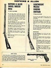 1976 Print Ad of Hopkins & Allen Swivel Breech Rifle & Muzzle Loading Shotgun