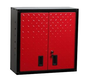 HILKA TOOL CABINET NEW GARAGE STORAGE WALL UNIT CUPBOARD BOX CHEST RED BLACK