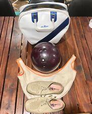 Ten Pin Bowling Ball Kit Columbia 300 White Dot Vintage