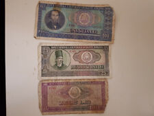 3 baconote Romania lei 100 1966  25 1966  10 1966 monete