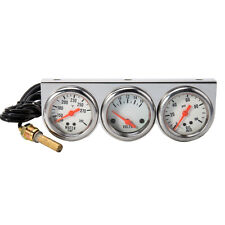 2'' 52mm Triple Gauge Kit 3 in1 Water Temp Oil Temperature Pressure Car Meter